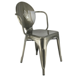New metal chair round back
