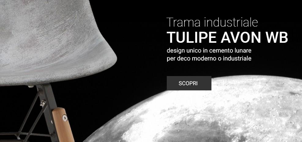 Sedia Tulipano Avon Calcestruzzo